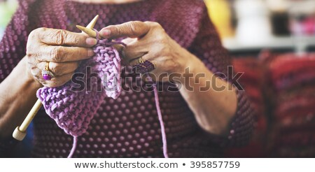 elderly woman knitting stock photo © photography33