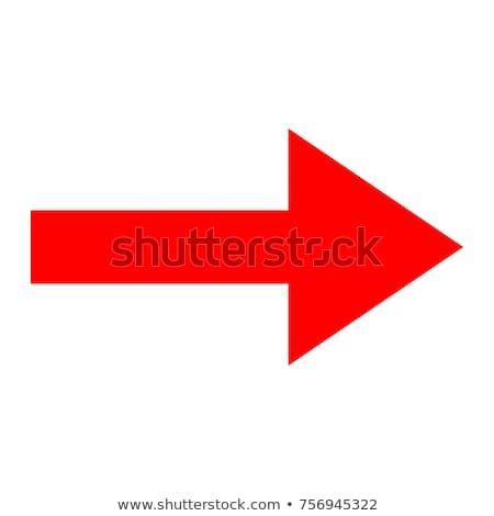 Piros nyíl hosszú asztal pénz fal Stock fotó © Ciklamen