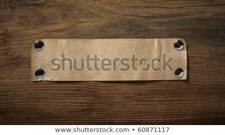 Notepaper attach with tape on wooden background Stock photo © happydancing