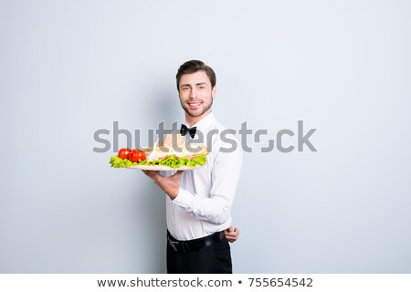 Waiter serving an entree Stock photo © photography33