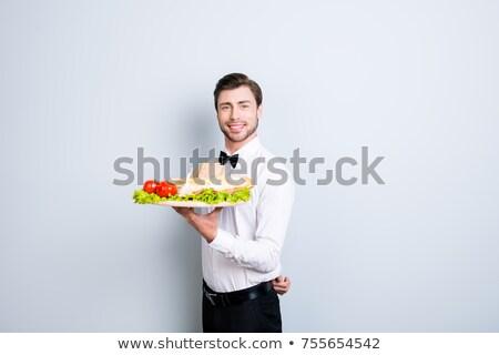 официант · блюдо · Nice · женщину · ресторан - Сток-фото © photography33