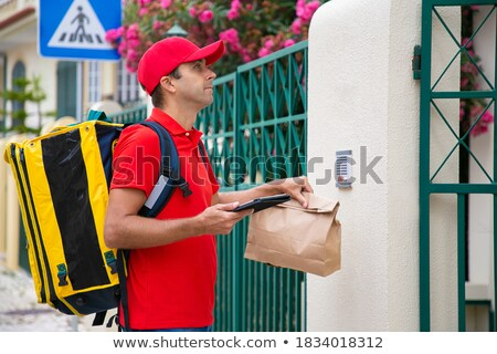 Serious courier Stock photo © broker