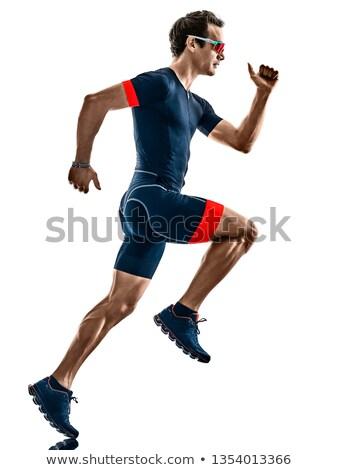 работает троеборье спортсмена человека Runner подготовки Сток-фото © Maridav
