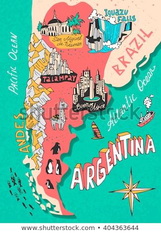 résumé · Argentine · pavillon · rouge · arc · design - photo stock © perysty