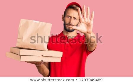 Negação pacote sorrir como Foto stock © lisafx
