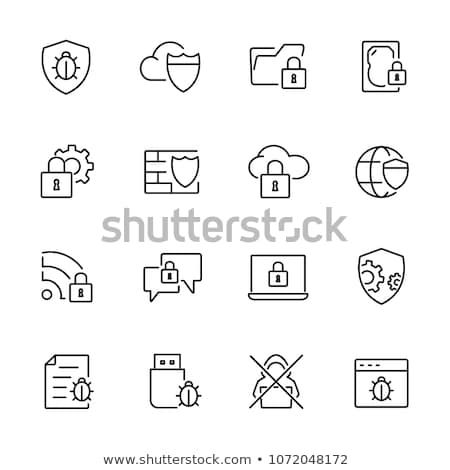 Anti virus symbol Stock photo © dagadu