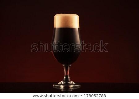 glass of dark beer Stock photo © shutswis