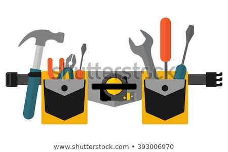 строители · инструментом · пояса · мастер · на · все · руки · пусто · кожа - Сток-фото © byjenjen