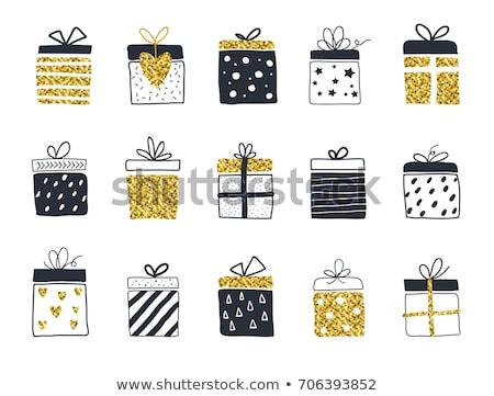 Dessinés à la main style Noël résumé espace blanche Photo stock © re_bekka