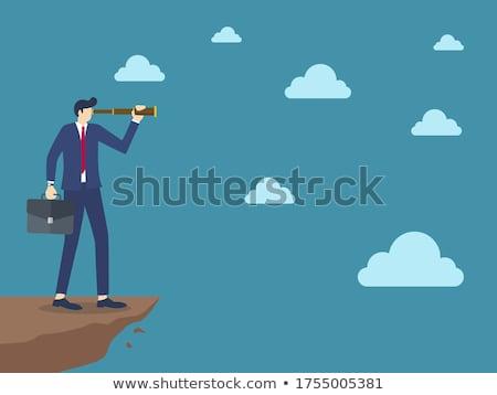turista · néz · távcső · égbolt · szem · férfi - stock fotó © photography33