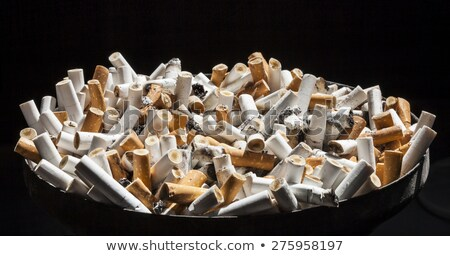 Asbak vol sigaretten partij gezondheid achtergrond Stockfoto © taviphoto