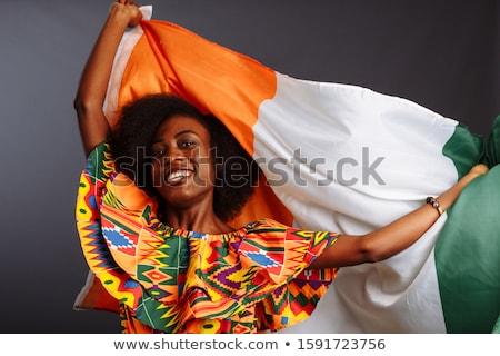 Берег Слоновой Кости карта флаг черный стране рисунок Сток-фото © tshooter
