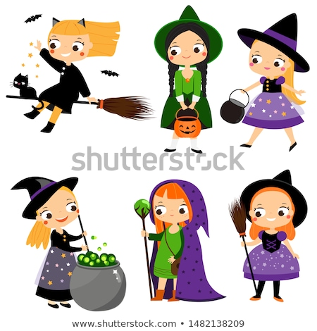 Stock photo: Cat, Fairy and Witch.