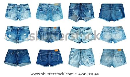 Közelkép női kék rövid nők divat Stock fotó © Andersonrise