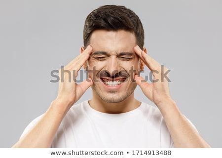 Masculina estudiante dolor de cabeza ordenador escuela portátil Foto stock © wavebreak_media
