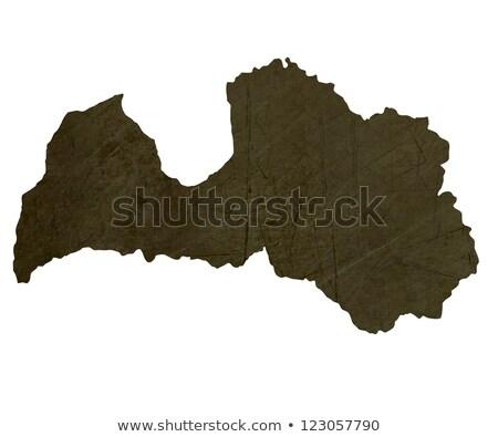 Sötét térkép Lettország mintázott izolált fehér Stock fotó © speedfighter