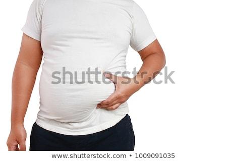 肥満した 男 戻る 男性 ダイエット 成人 ストックフォト © markhayes