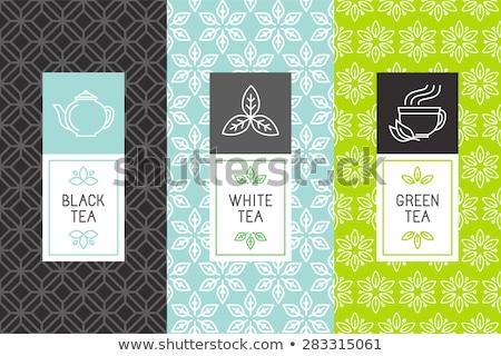 Сток-фото: чай · Label · вектора · Cookies · дизайна · фрукты