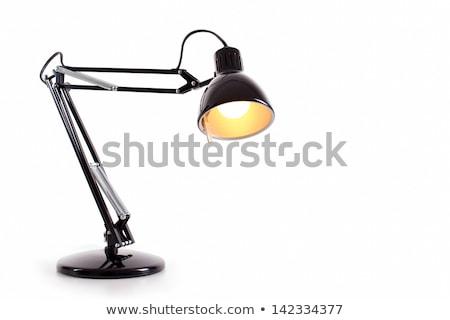 secretária · lâmpada · isolado · branco · negócio · escritório - foto stock © shutswis