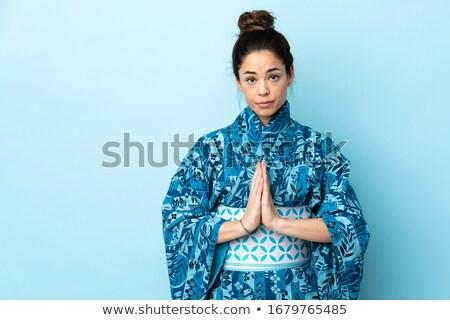 женщину традиционный кимоно рук вместе Сток-фото © wavebreak_media