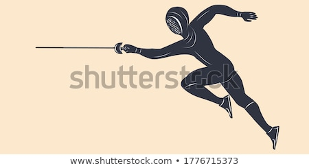 rapier and banner Stock photo © sharpner