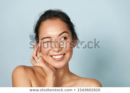 Closeup of radiant smiling woman Stock photo © photography33