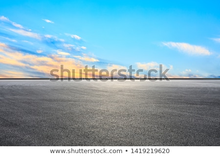 Yellow Dawn Asphalt Stock photo © eldadcarin