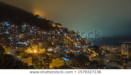Rio de Janeiro dentro casa edifícios sem casa sujeira Foto stock © elxeneize