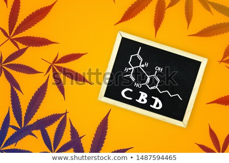 chemical formula of thc on a blackboard stock photo © zerbor