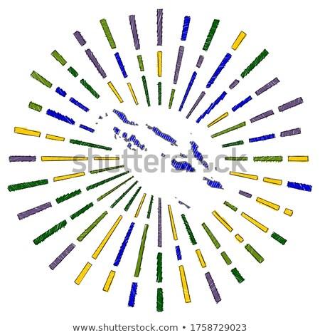 Handdrawn flag of Solomon Islands Stock photo © claudiodivizia