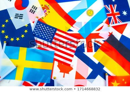 Multinacional bandeiras usado decoração Londres Foto stock © Artlover