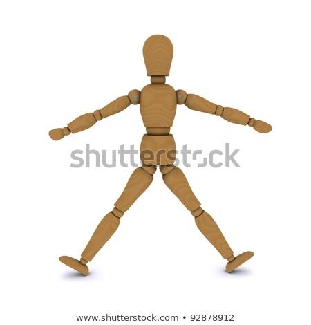 Fából készült baba karok lábak oldal 3D Stock fotó © cherezoff