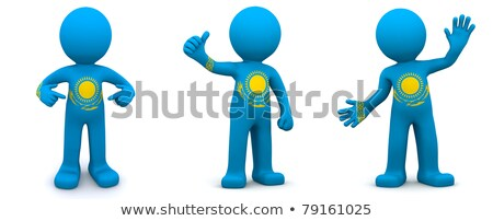 3d character textured with flag of kazakhstan stock photo © kirill_m
