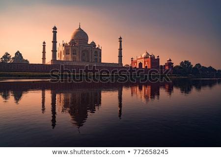 Taj Mahal ív mauzóleum császár becsület feleség Stock fotó © faabi
