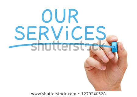 service blue marker stock photo © ivelin