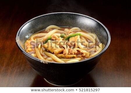 köri · makarna · Japon · çorba · et · pişirme - stok fotoğraf © varts