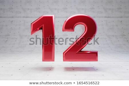 赤 番号 12 反射 デザイン にログイン ストックフォト © Zerbor