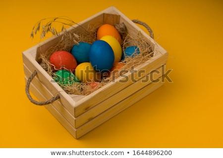 tatil · paskalya · yumurtası · dekore · edilmiş · kutu · renkli - stok fotoğraf © tobkatrina
