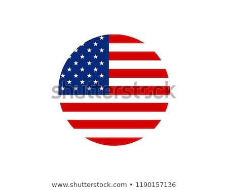 USA · zászló · ikon · izolált · fehér · üzlet - stock fotó © zeffss