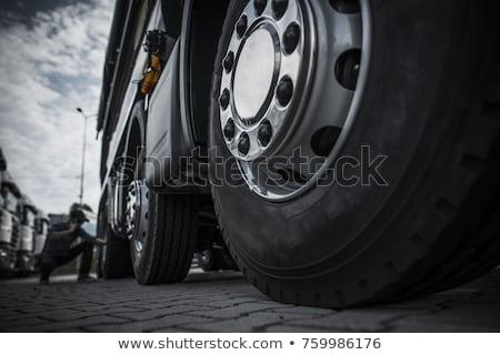 Lastik kamyon kış araba baskı sokak Stok fotoğraf © 5xinc