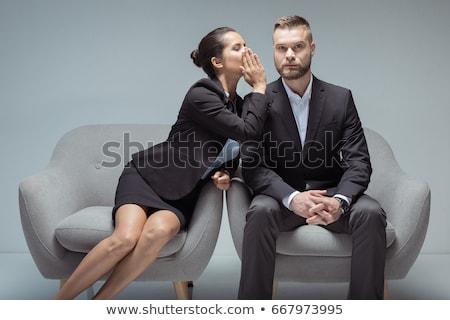 Mulher jovem algo homem quadro Foto stock © feedough