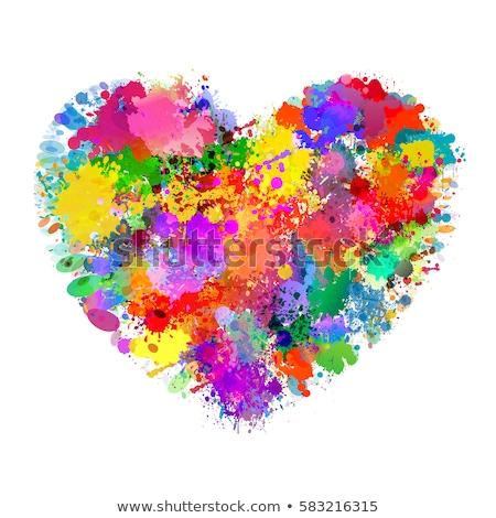 colorful hearts stock photo © kimmit