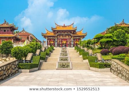 kínai · hagyományos · templom · buddhizmus · épület · égbolt - stock fotó © cozyta