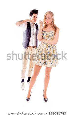 Lesbiennes partenaire ami derrière portrait stress Photo stock © bmonteny