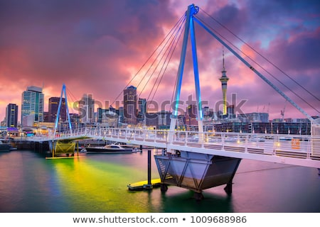 Cityscape · изображение · Skyline · Новая · Зеландия · рассвета · дороги - Сток-фото © jeayesy
