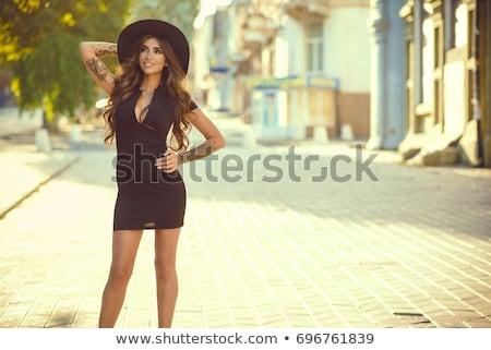 retro · fekete · kalap · izolált · fehér · 3d · render - stock fotó © dashapetrenko