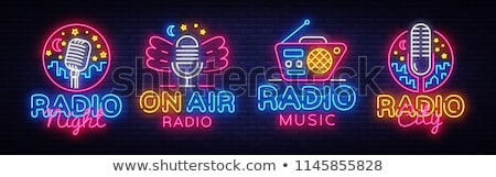 Radio set – Vector illustration stock photo © Mr_Vector