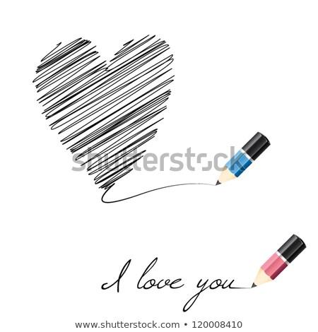 Rood · vlinder · hart · vector · liefde · ontwerp - stockfoto © oblachko