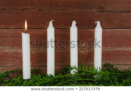 four advent candles at an old weathered red wall stock photo © olandsfokus