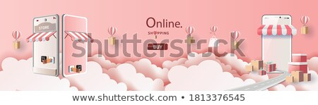 Stock photo: romance shopping woman in pink with bags